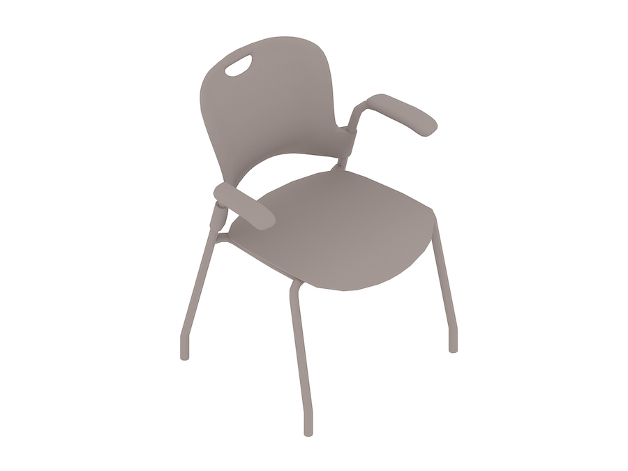 A generic rendering - Caper Stacking Chair–Fixed Arms