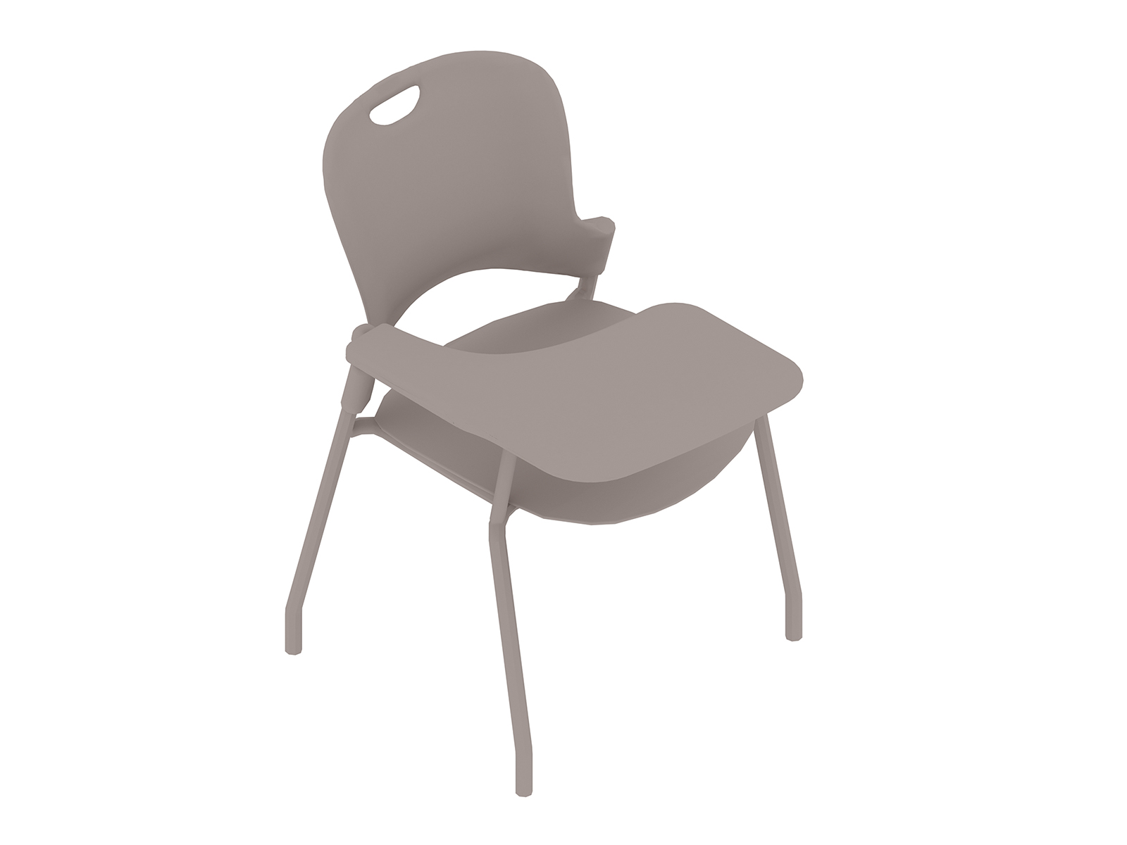 A generic rendering - Caper Stacking Chair–Tablet Arm–Right