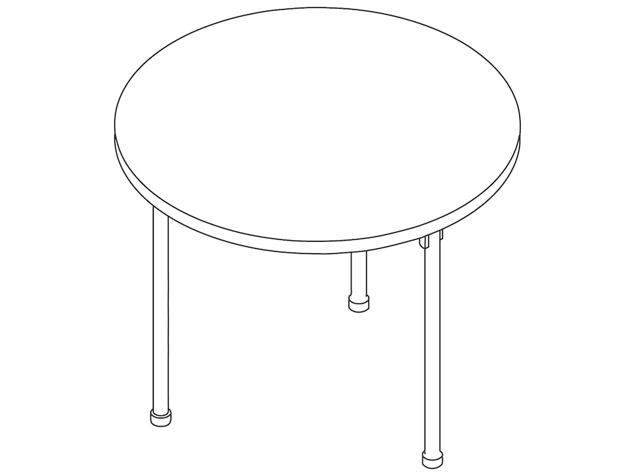 A line drawing - Claw Table – Round