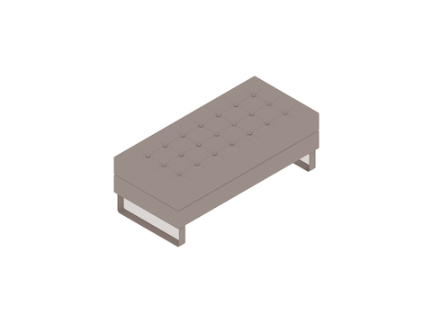 A generic rendering - Clyde Bench–2 Seat