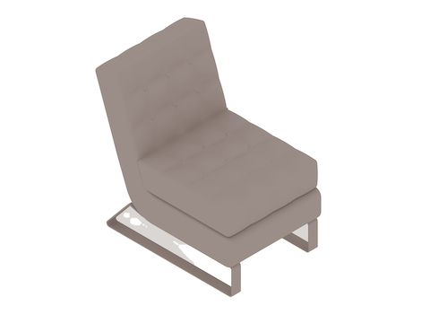 A generic rendering - Clyde Club Chair–Armless