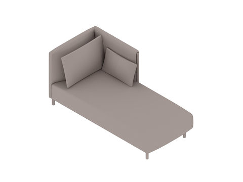 A generic rendering - ColourForm Chaise–Left