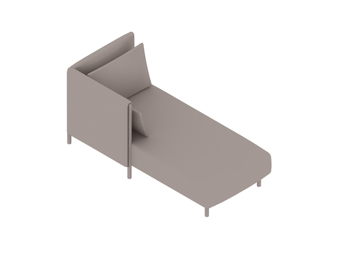 A generic rendering - ColourForm Chaise–Right