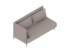 A generic rendering - ColourForm Sofa–2 Seat–Right Arm