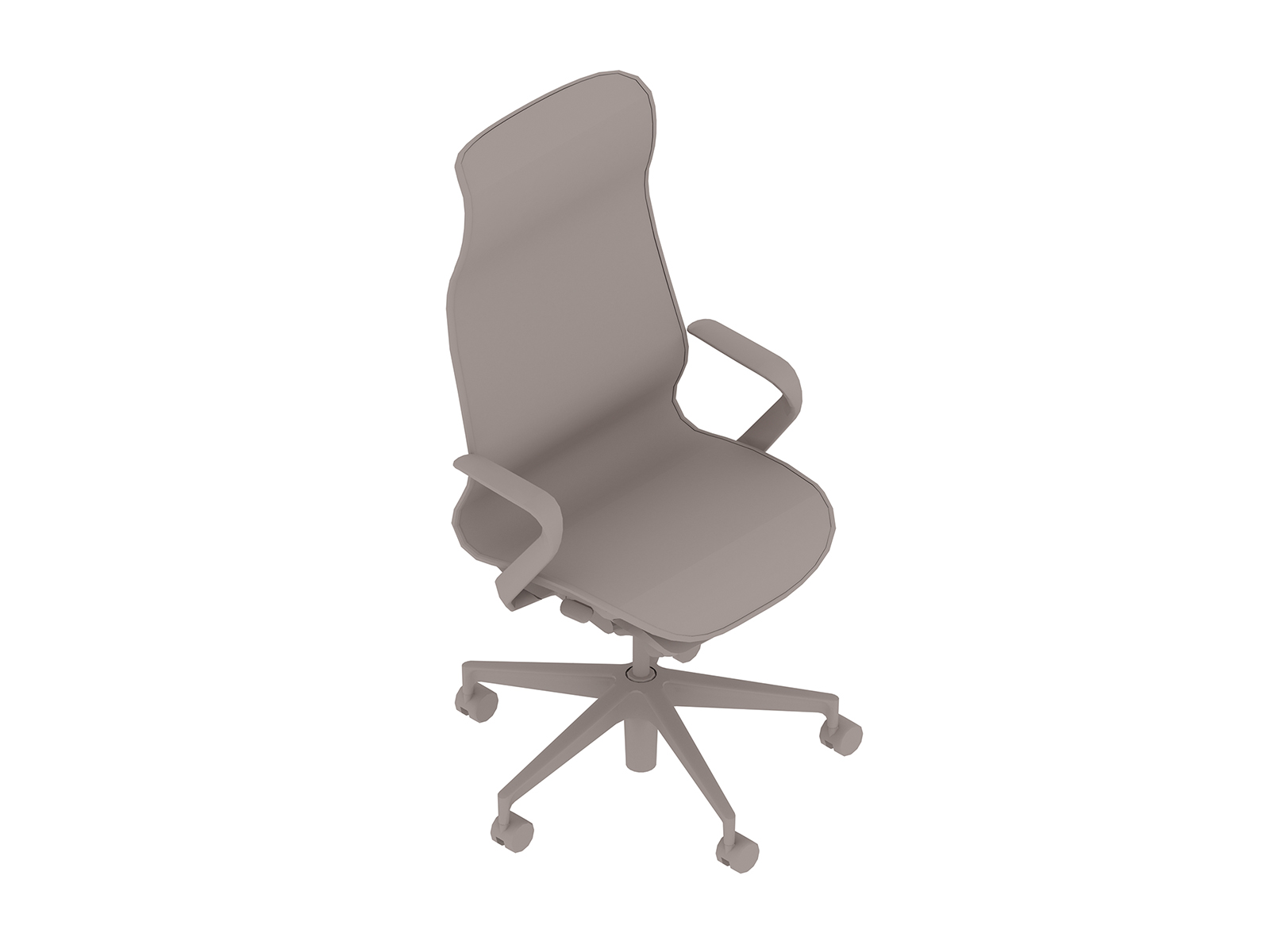 A generic rendering - Cosm Chair–High Back–Fixed Arms