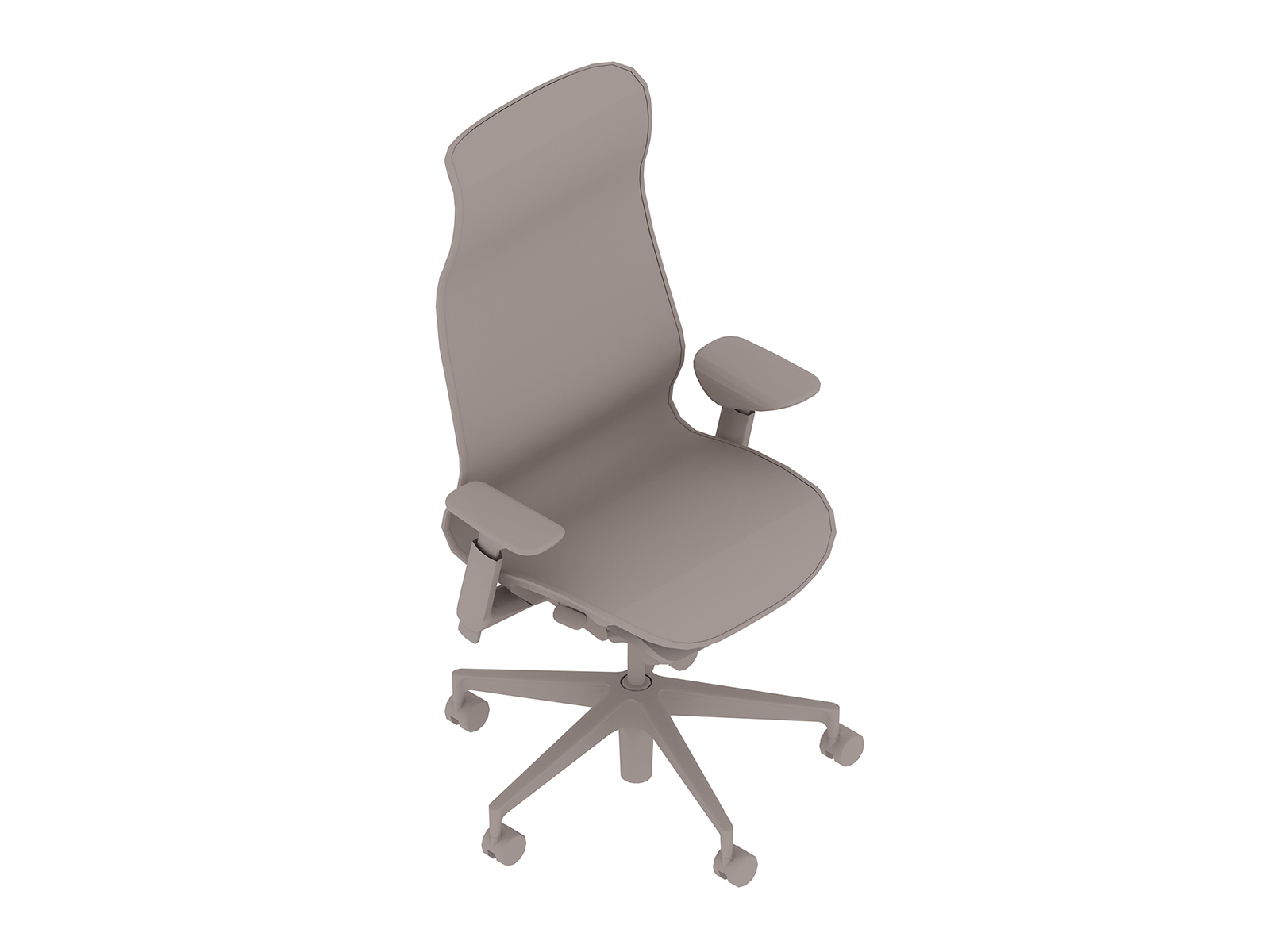 A generic rendering - Cosm Chair–High Back–Height Adjustable Arms