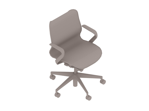 A generic rendering - Cosm Chair–Low Back–Fixed Arms