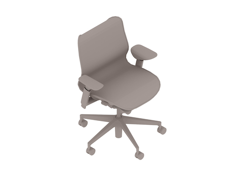 A generic rendering - Cosm Chair–Low Back–Height Adjustable Arms
