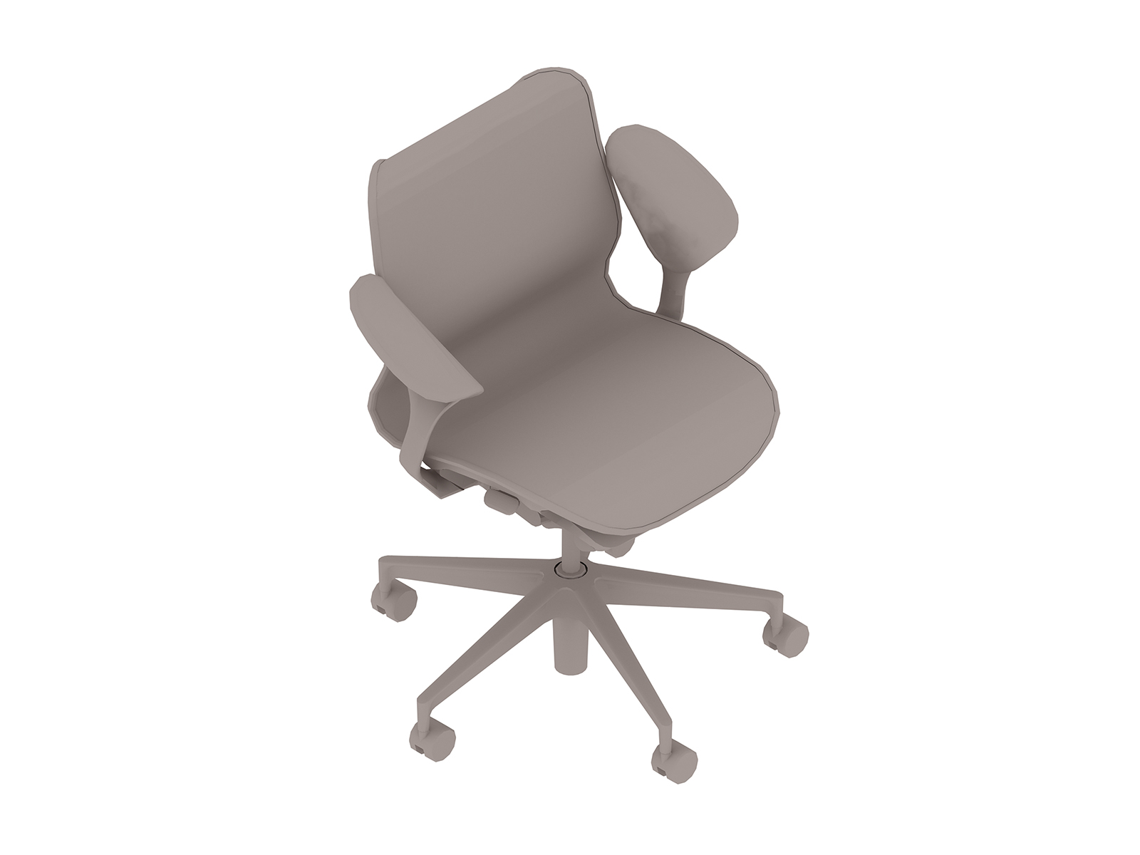 A generic rendering - Cosm Chair–Low Back–Leaf Arms