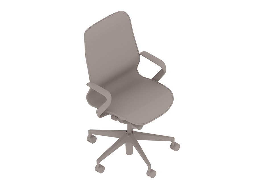 A generic rendering - Cosm Chair–Mid Back–Fixed Arms