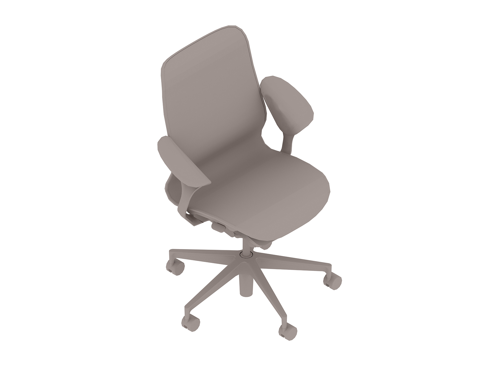 A generic rendering - Cosm Chair–Mid Back–Leaf Arms