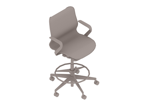 A generic rendering - Cosm Stool–Low Back–Fixed Arms