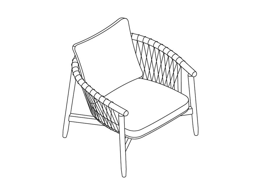 A line drawing - Crosshatch Lounge Chair