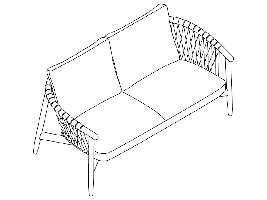 A line drawing - Crosshatch Settee