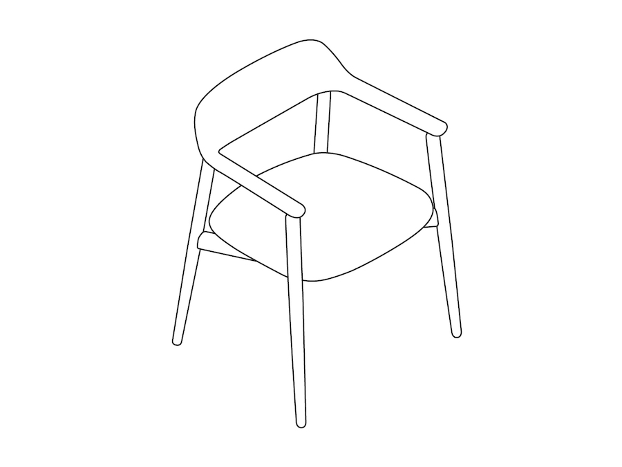 A line drawing - Crosshatch Side Chair
