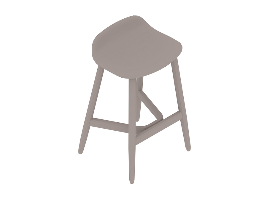 A generic rendering - Crosshatch Stool–Counter Height