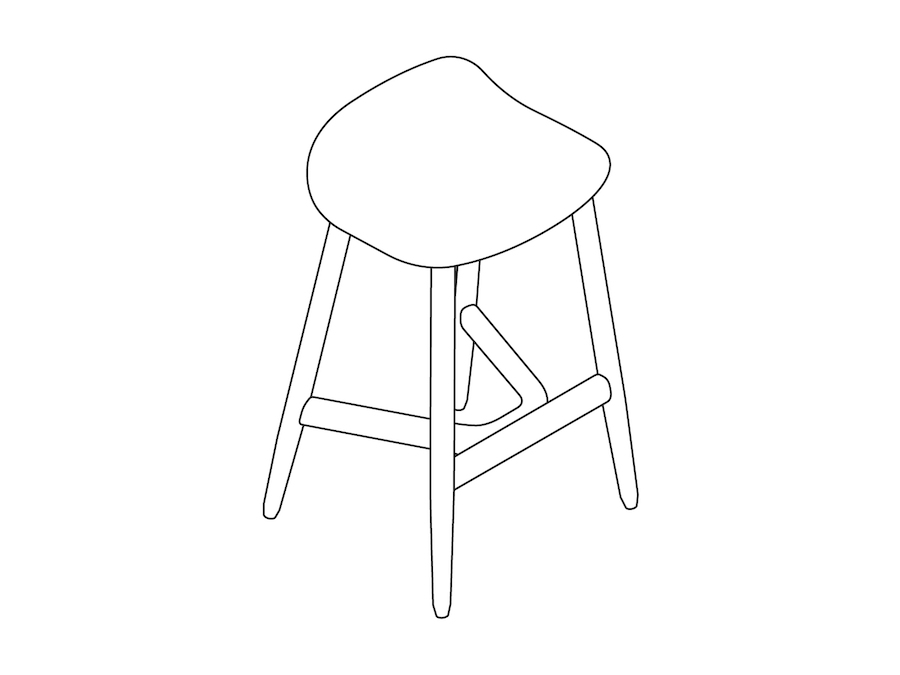 A line drawing - Crosshatch Stool–Counter Height