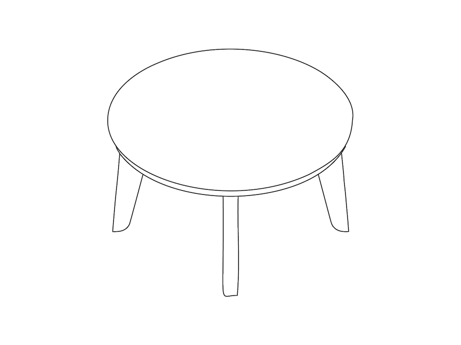 A line drawing - Dalby Coffee Table–Round