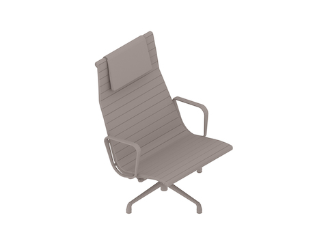 A generic rendering - Eames Aluminium Group Lounge Chair