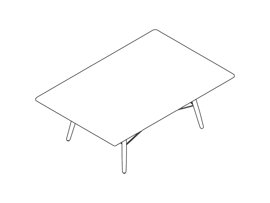 A line drawing - Eames Coffee Table–Rectangular