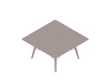 A generic rendering - Eames Coffee Table–Square