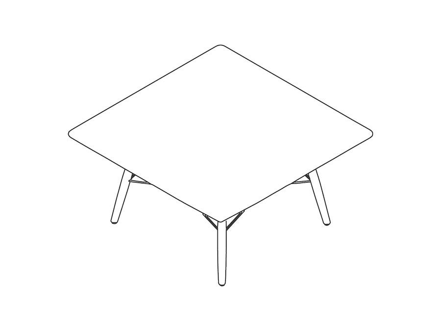 A line drawing - Eames Coffee Table–Square