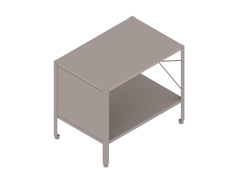 A generic rendering - Eames Storage Unit–1 High by 1 Wide