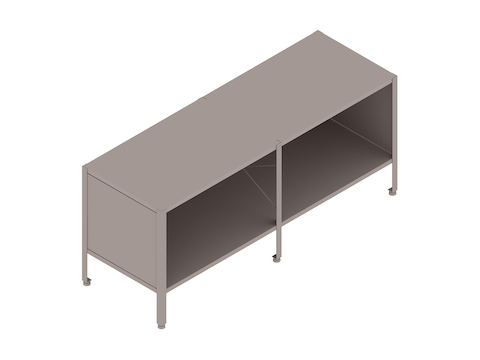 A generic rendering - Eames Storage Unit–1 High by 2 Wide