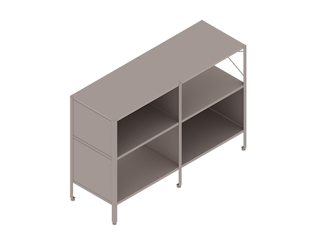 A generic rendering - Eames Storage Unit–2 High by 2 Wide