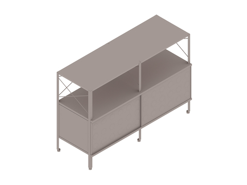 A generic rendering - Eames Storage Unit–2 High by 2 Wide–With Doors