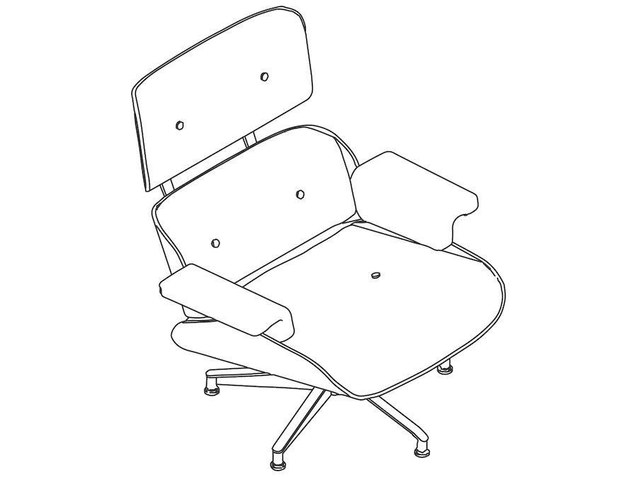 A line drawing - Eames Lounge Chair–Classic
