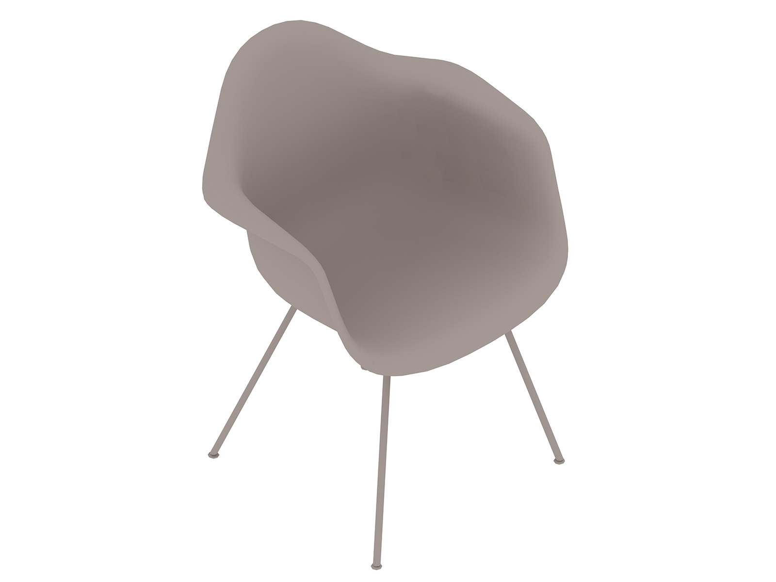 A generic rendering - Eames Moulded Fibreglass Armchair–4-Leg Base–Nonupholstered