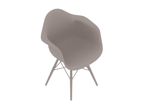A generic rendering - Eames Moulded Fibreglass Armchair–Dowel Base–Nonupholstered