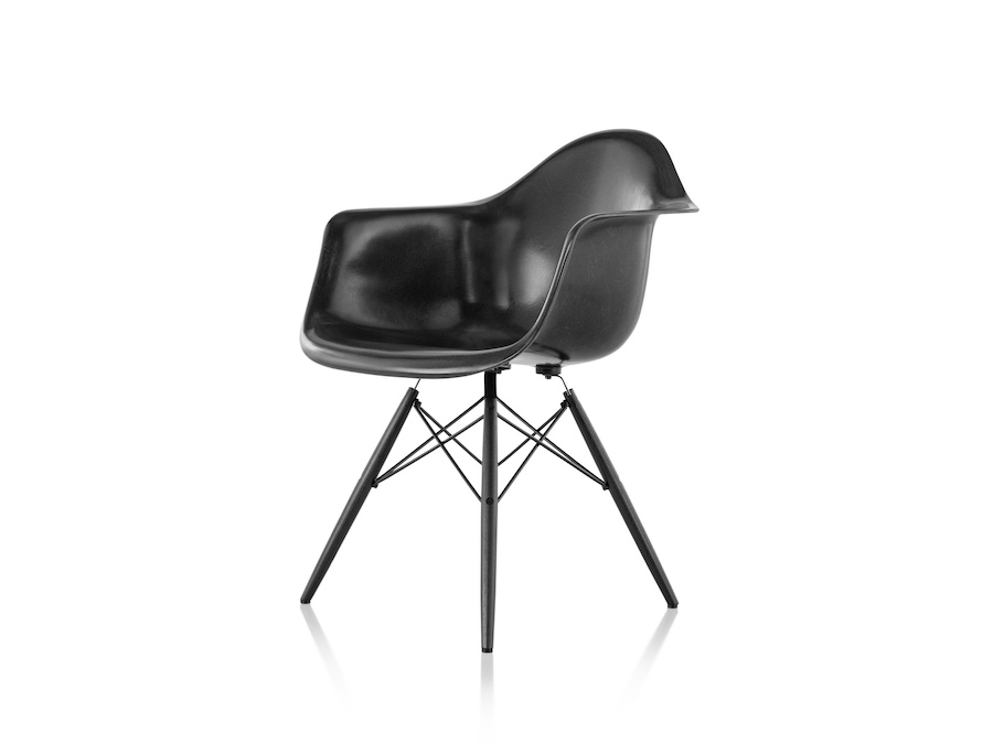 A photo - Eames Molded Fiberglass Armchair–Dowel Base–Nonupholstered