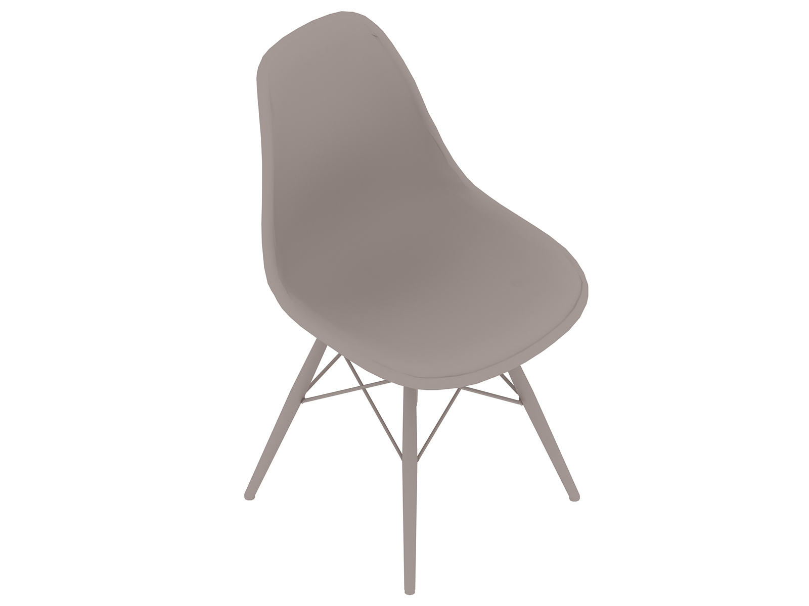 A generic rendering - Eames Molded Fiberglass Side Chair–Dowel Base–Fully Upholstered