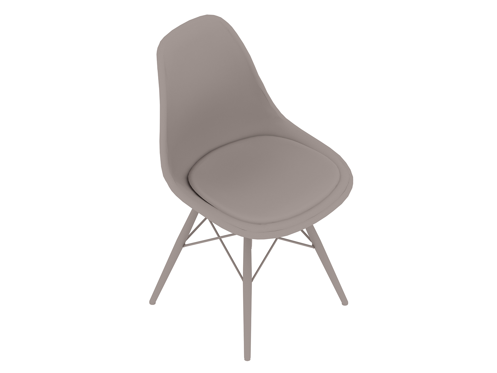 A generic rendering - Eames Moulded Fibreglass Side Chair–Dowel Base–Upholstered Seat Pad