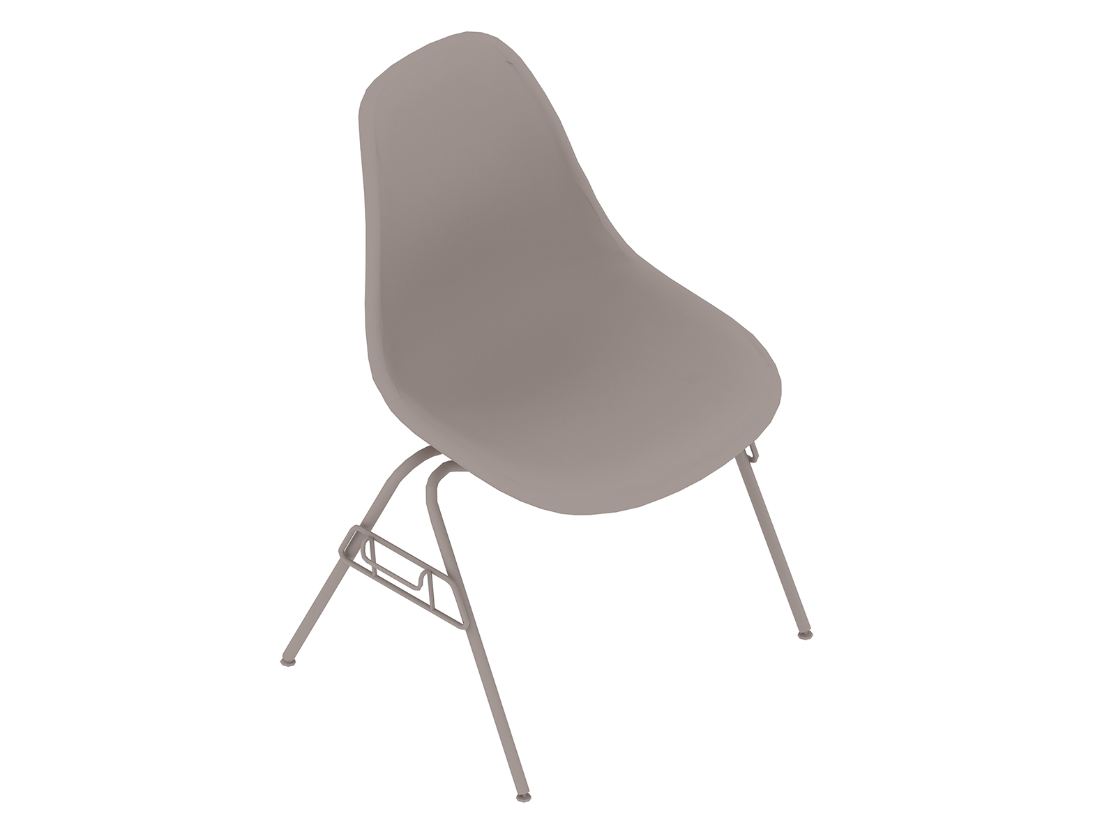 A generic rendering - Eames Moulded Fibreglass Side Chair–Stacking Base