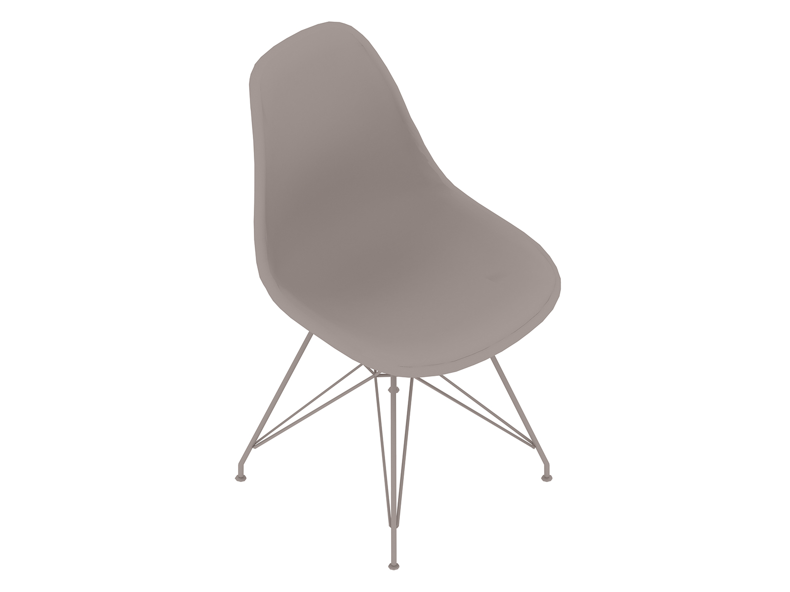 A generic rendering - Eames Moulded Fibreglass Side Chair–Wire Base–Fully Upholstered