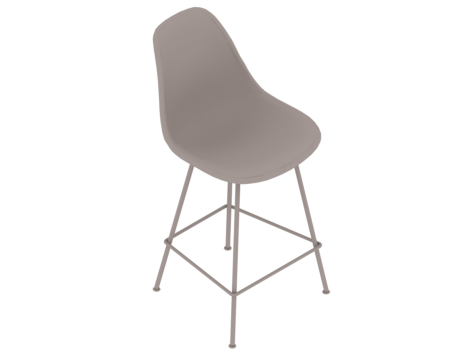 A generic rendering - Eames Moulded Fibreglass Stool–Counter Height–Fully Upholstered