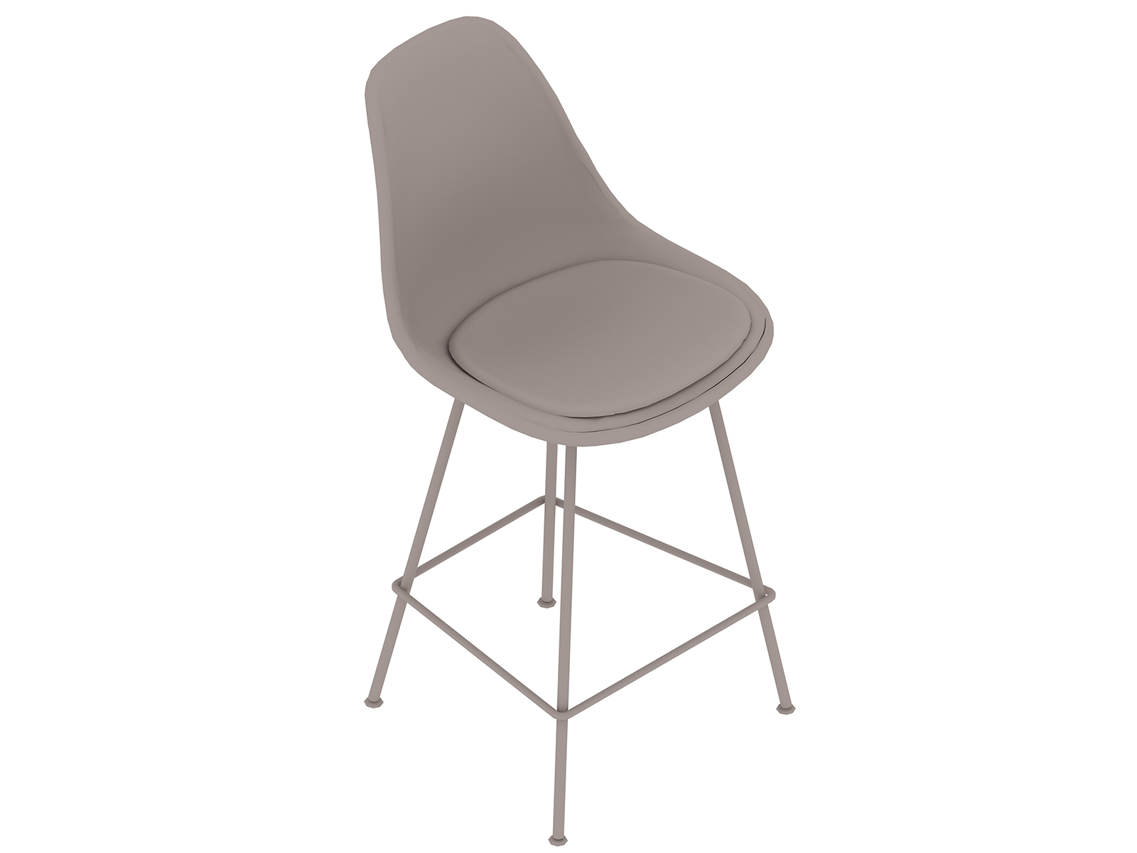 A generic rendering - Eames Moulded Fibreglass Stool–Counter Height–Upholstered Seat Pad
