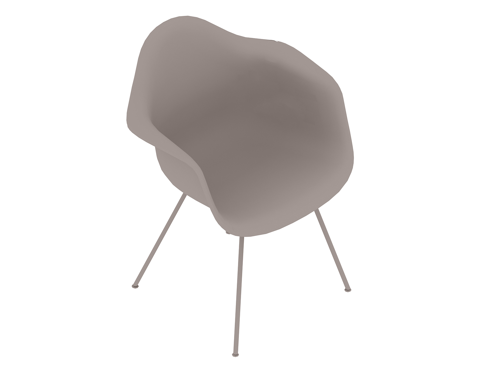 A generic rendering - Eames Moulded Plastic Armchair–4-Leg Base–Fully Upholstered