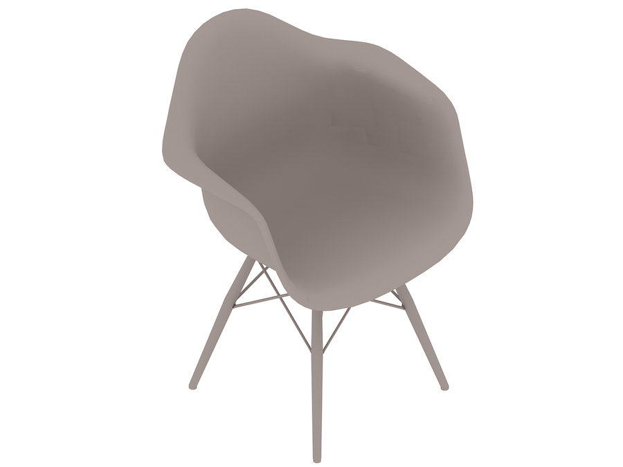 A generic rendering - Eames Moulded Plastic Armchair–Dowel Base–Fully Upholstered