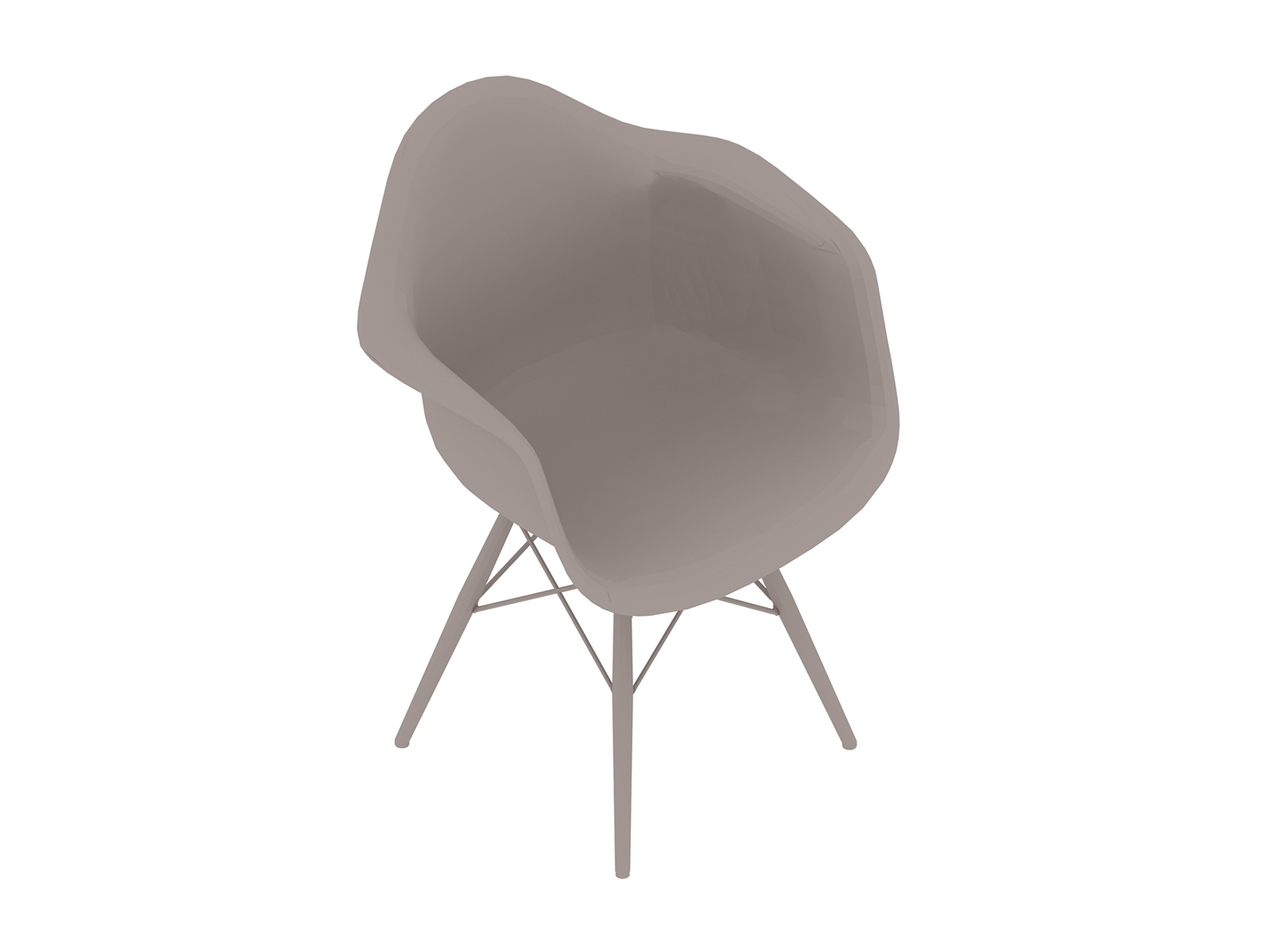 A generic rendering - Eames Moulded Plastic Armchair–Dowel Base–Nonupholstered