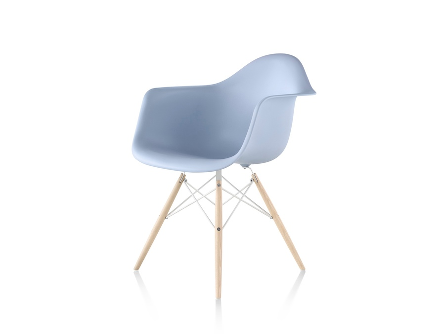A photo - Eames Molded Plastic Armchair–Dowel Base–Nonupholstered