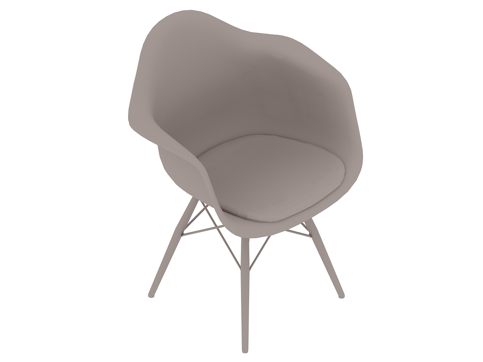 A generic rendering - Eames Moulded Plastic Armchair–Dowel Base–Upholstered Seat Pad