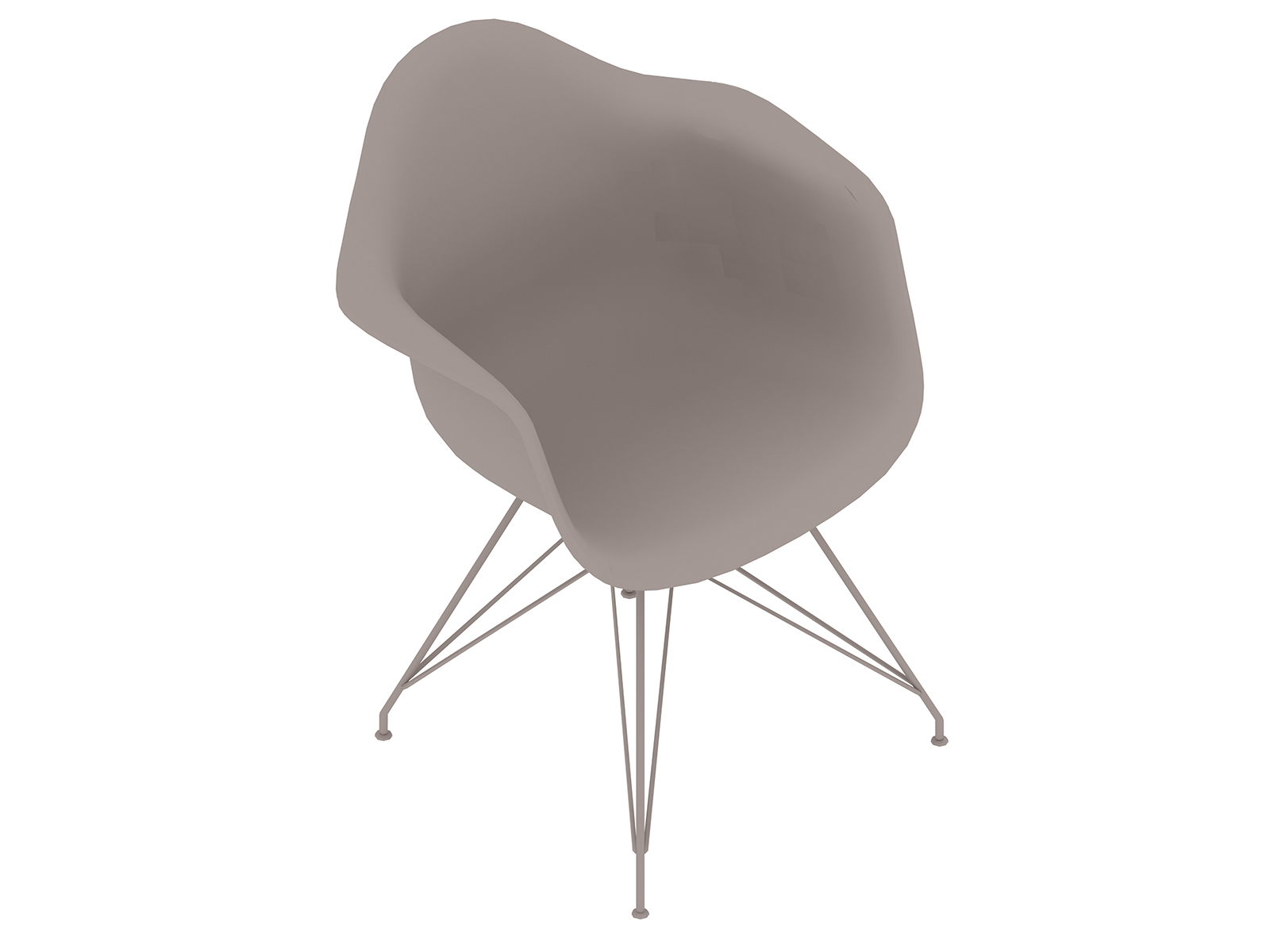 A generic rendering - Eames Moulded Plastic Armchair–Wire Base–Fully Upholstered