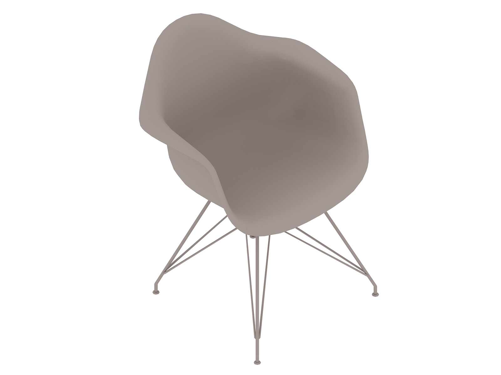 A generic rendering - Eames Moulded Plastic Armchair–Wire Base–Nonupholstered