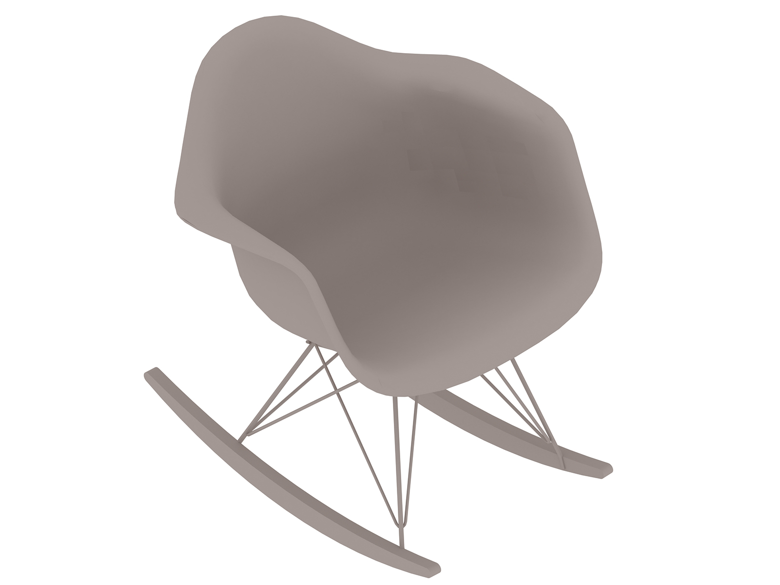 A generic rendering - Eames Moulded Plastic Rocking Chair–Fully Upholstered