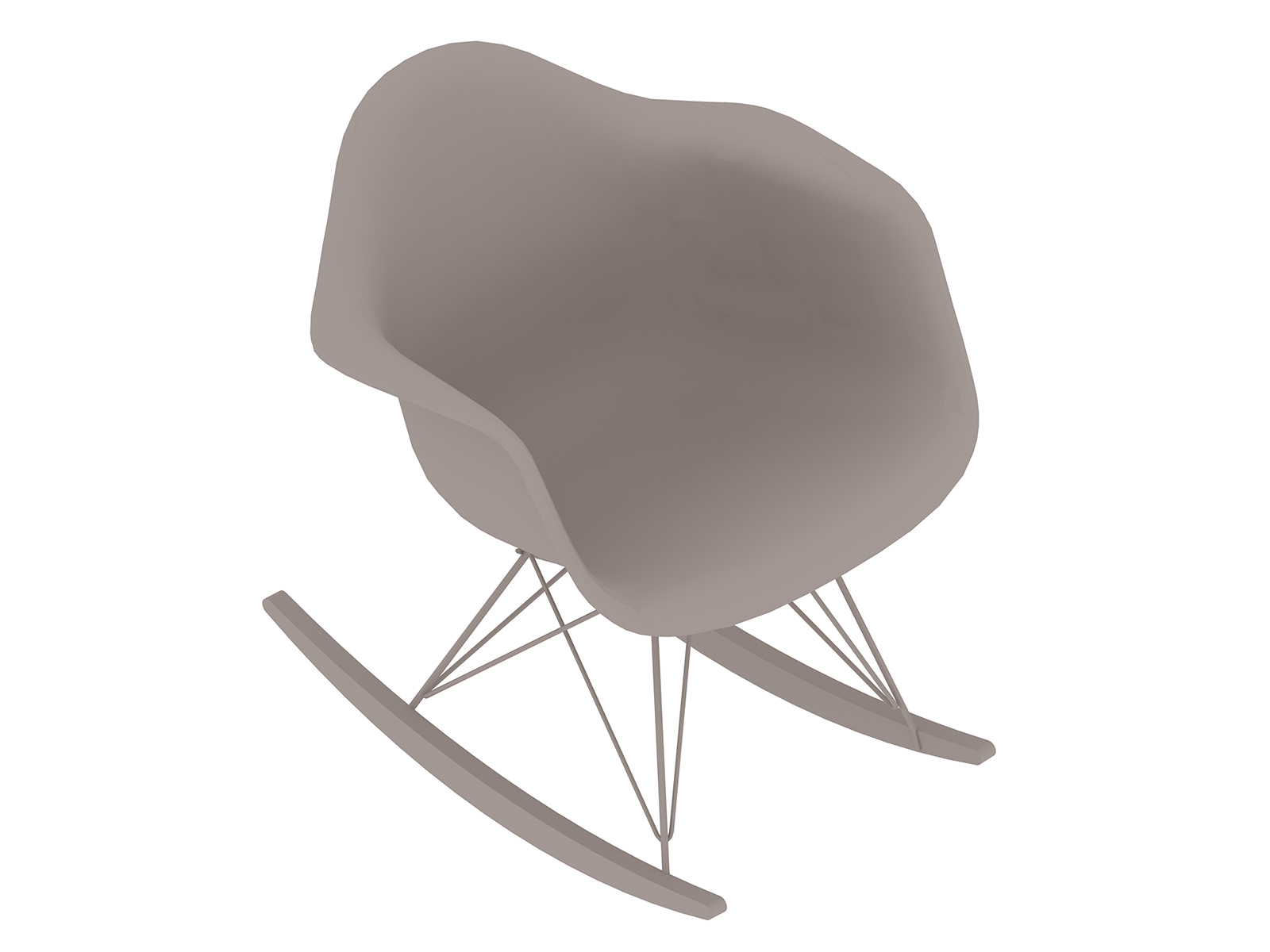 A generic rendering - Eames Moulded Plastic Rocking Chair–Non-upholstered