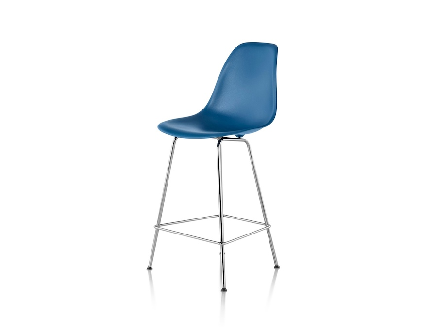 A photo - Eames Molded Plastic Stool–Counter Height–Nonupholstered